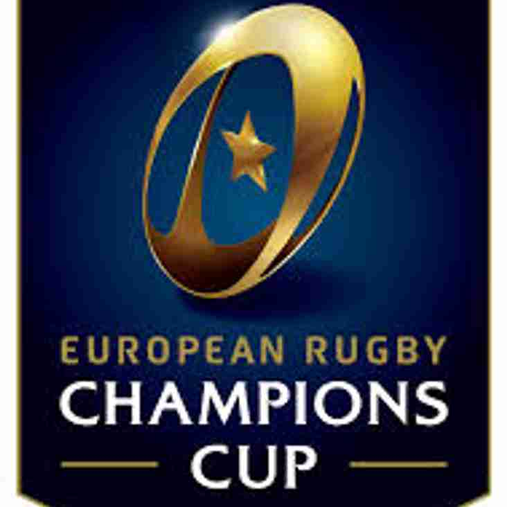 Saturday 20th January - Live Televising of Champions Cup Game - Saracens vs Northampton Saints