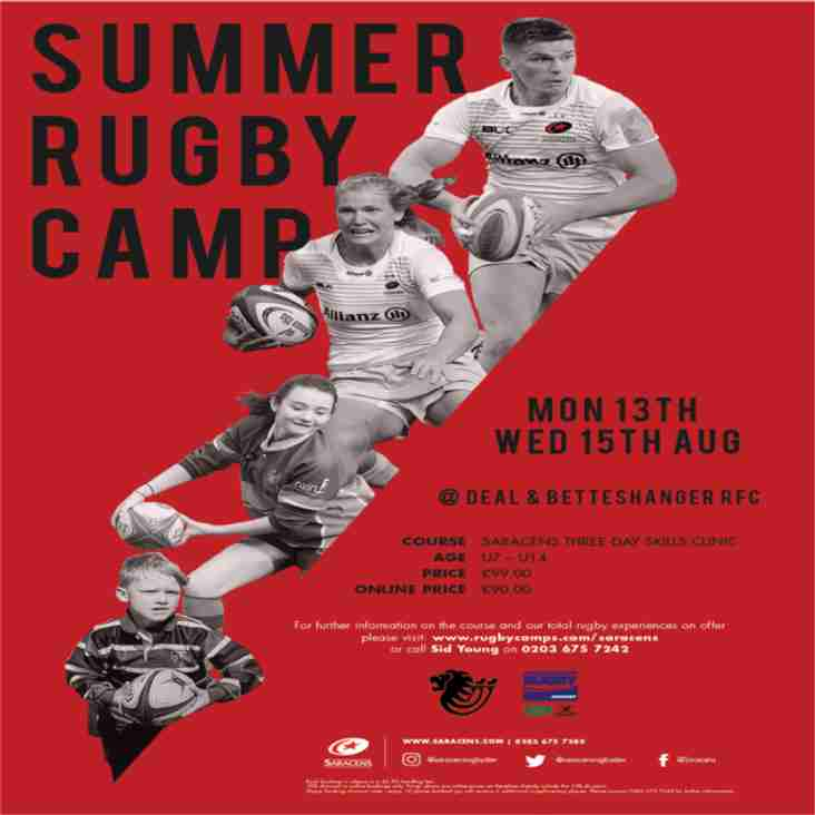 Saracens Summer Rugby Camp 2018