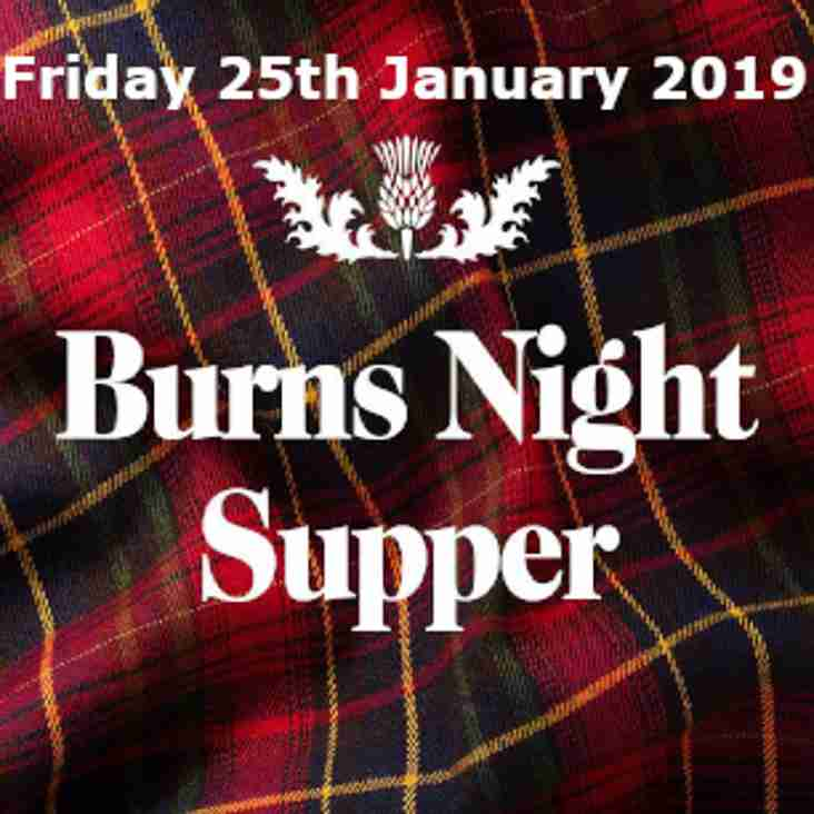 Friday 25th January 2019 - Burns Night Supper