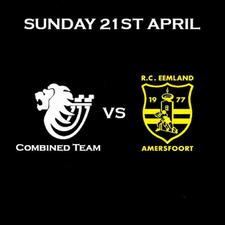 Sunday 21st April - D&B RFC Hosting Touring Side from RC Eemland