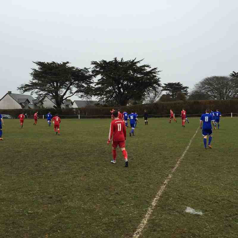 St Minver 1sts v Saltash United - 26th March 2016