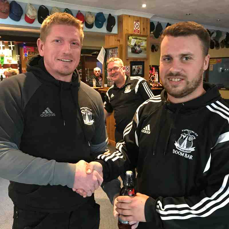Sharps Brewery Man of the Match = Ryan Pooley