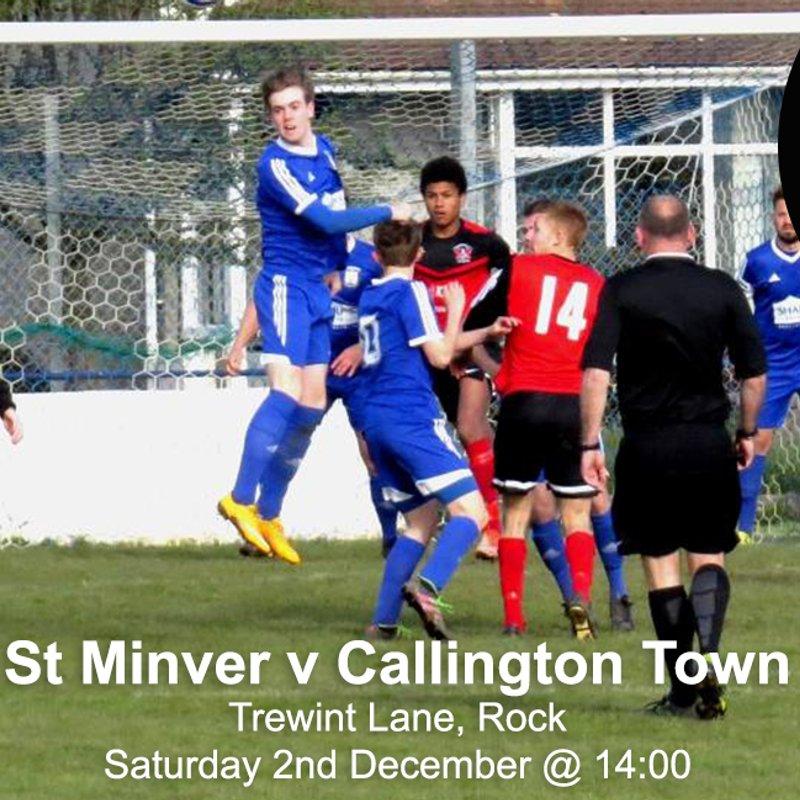 St Minver 1sts 0 v 1 Callington Town 2nds   SWAZ Teamwear Legue Cup 2nd Round