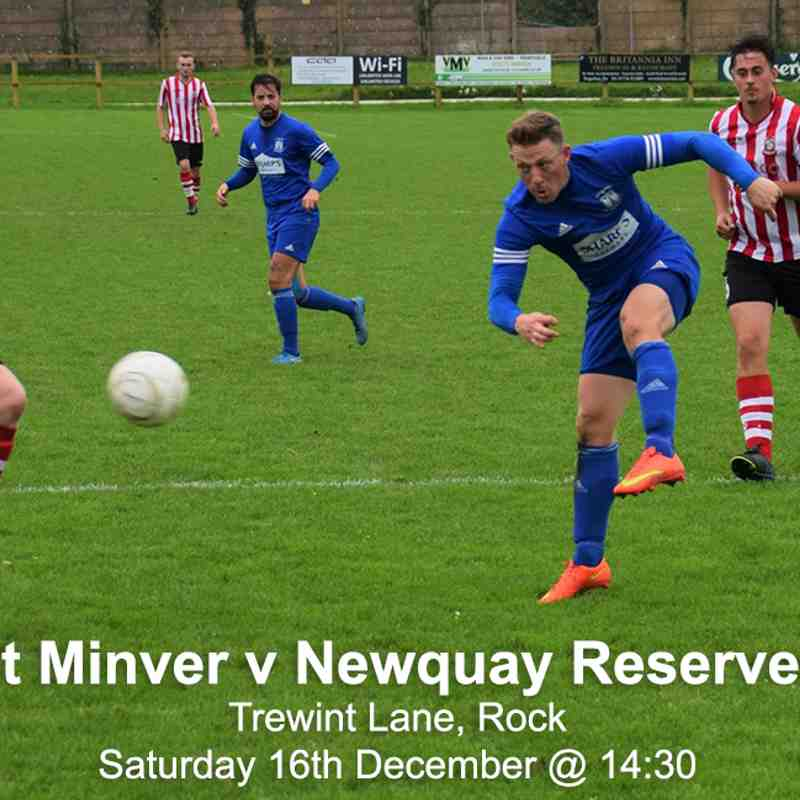 St Minver 1sts v Newquay Reserves - Sat 16 Dec 2017