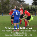 St Minver 1sts 2 v 0 Millbrook | Roy Radford Div 1 Cup Quarter Final