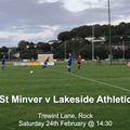 St Minver 1sts 3 v 0 Lakeside Athletic