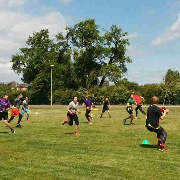 Flag football practice