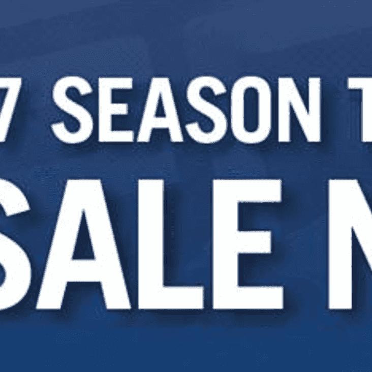 Season Tickets - 2016/17