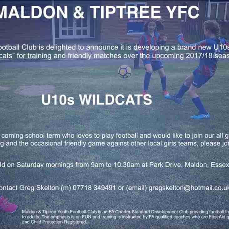 Players Needed - U10 Wildcats
