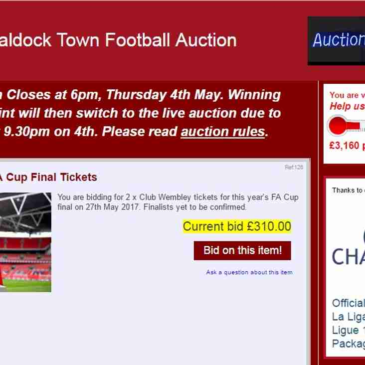 Baldock Town Football Auction - CLOSES @ 6PM TODAY!