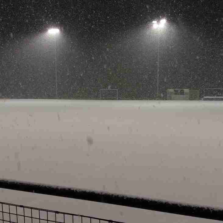 Training cancelled  1/3/2018