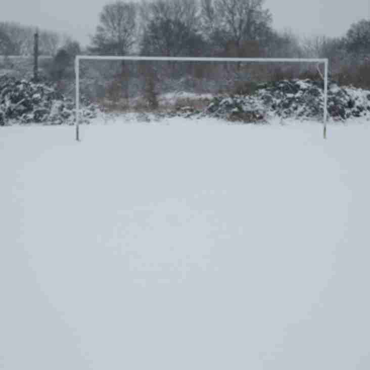 Ladies game on Sunday 4th March 2018 is postponed