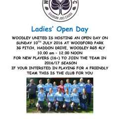 Ladies open day - Sunday 10 July 2016