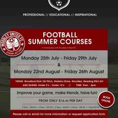Football Summer Courses for u5 - u12 year olds