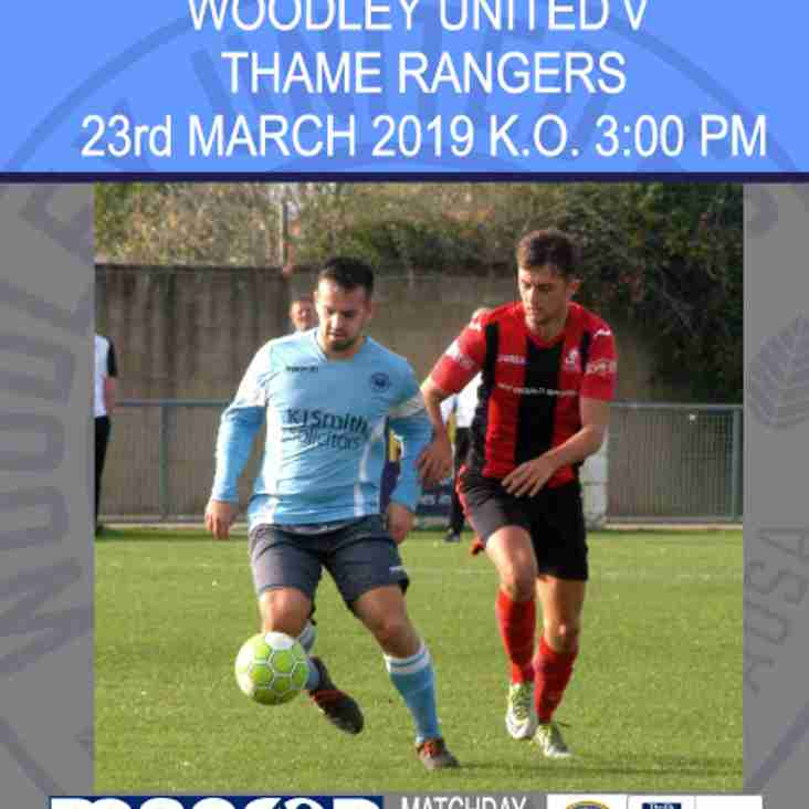 1st team match day programme
