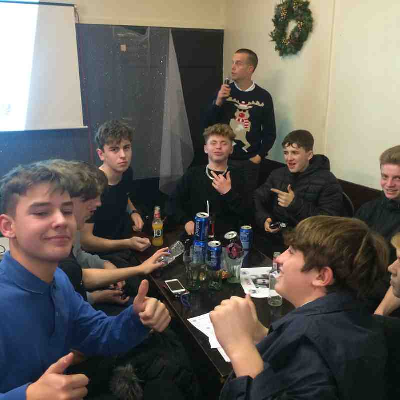 u15 Hammers Quiz Night - 9th December 2016