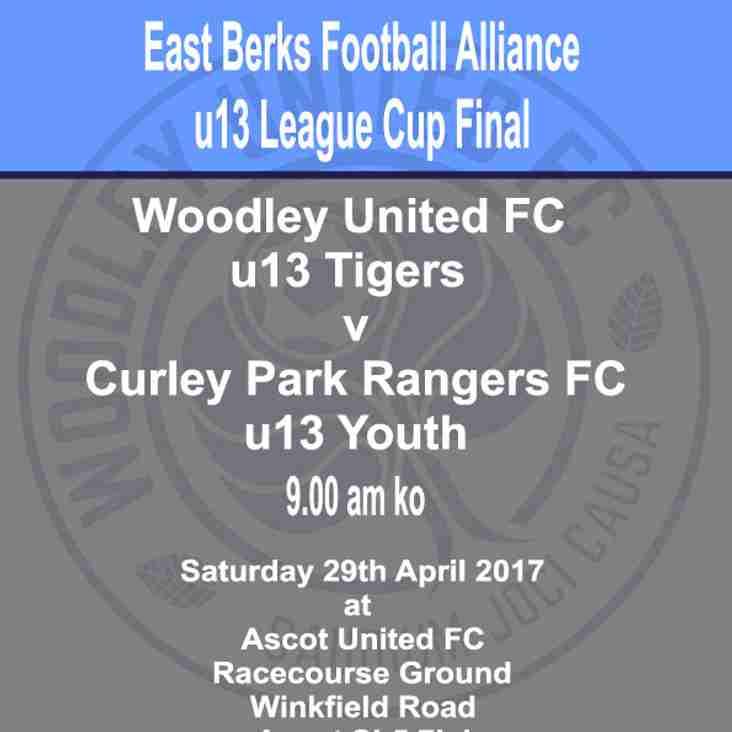 u13 Tigers in League cup final - Saturday 29th April 2017
