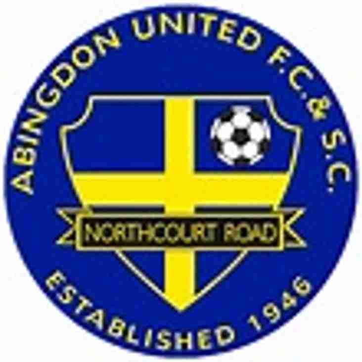 1st team away to Abingdon United - Saturday 19th August 2017