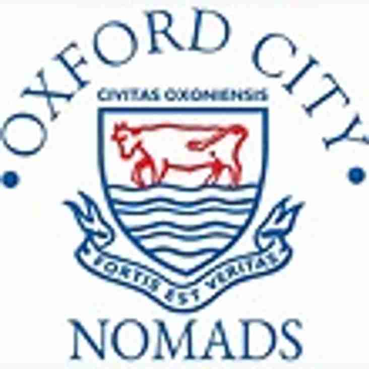 1st team home to Oxford City Nomads - Saturday 23rd December 2017