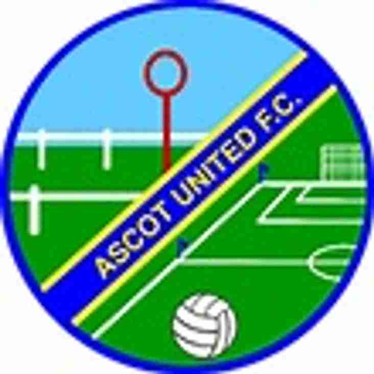 1st team at home to Ascot United - Saturday 21st April 2018