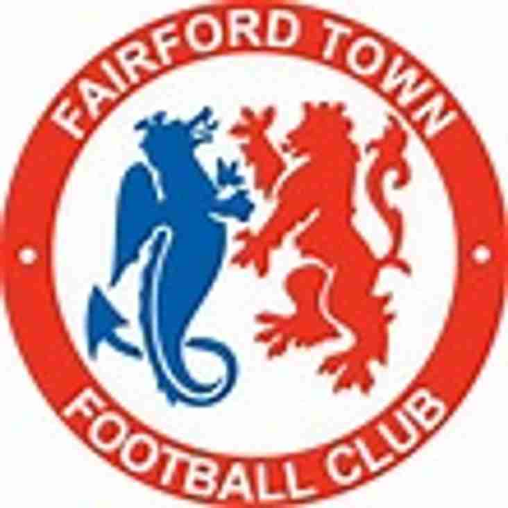1st team at home to Fairford Town - Saturday 25th November 2017