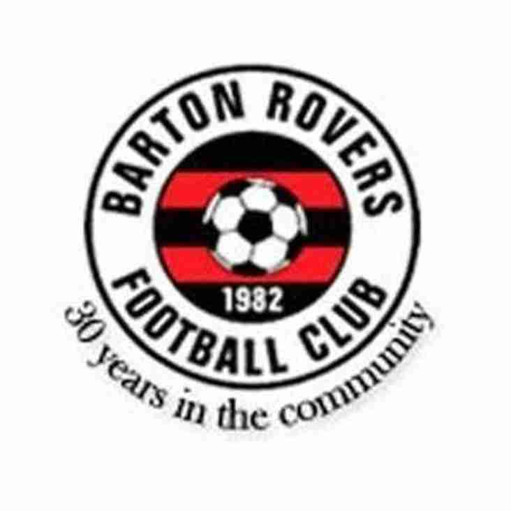 Ladies away to Barton Rovers - Sunday 31st March 2019