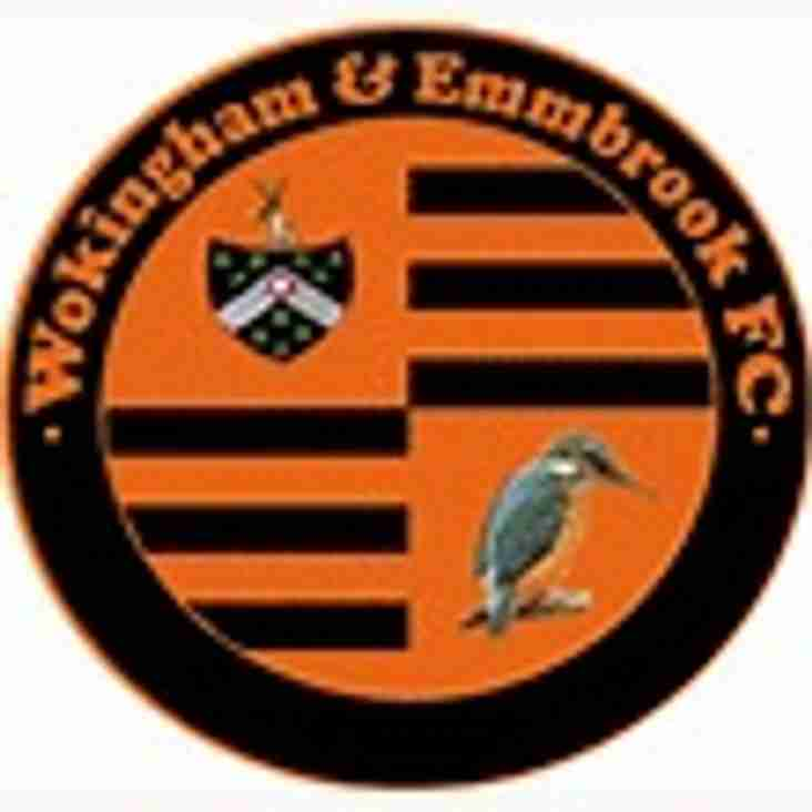 1st team away to Wokingham & Emmbrook - Saturday 23rd February 2019