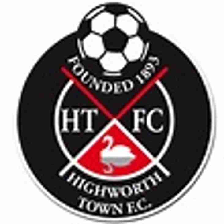 1st team away to Highworth Town - Saturday 2nd December 2017
