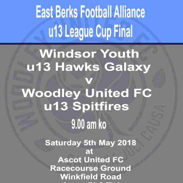u13 Spitfires in EBFA League cup final