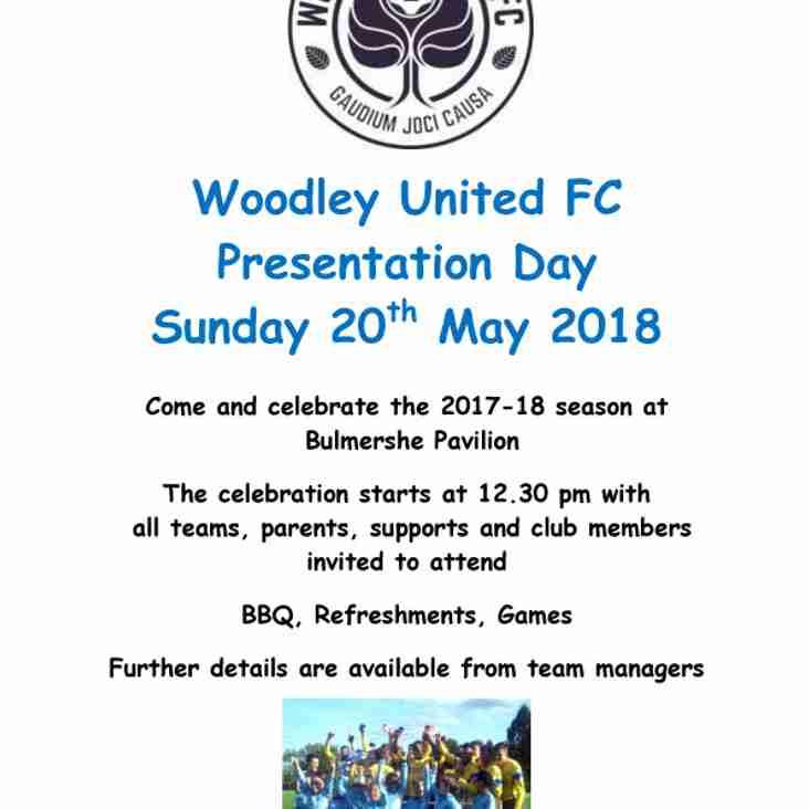 WUFC Presentation Day - Sunday 20th May 2018