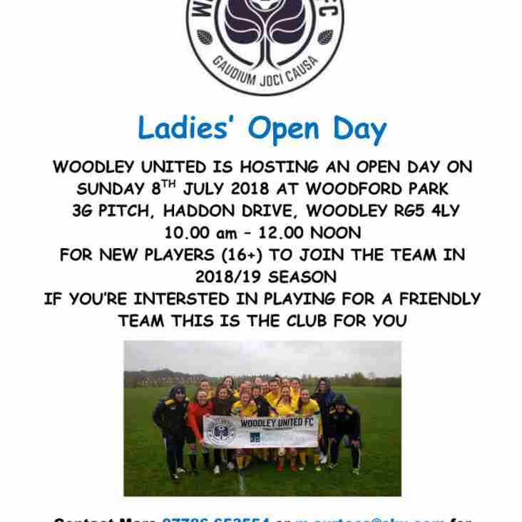 Ladies' Open Day - Sunday 8th July 2018