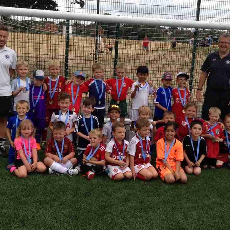 All fun at Woodley United FC's mini-kickers