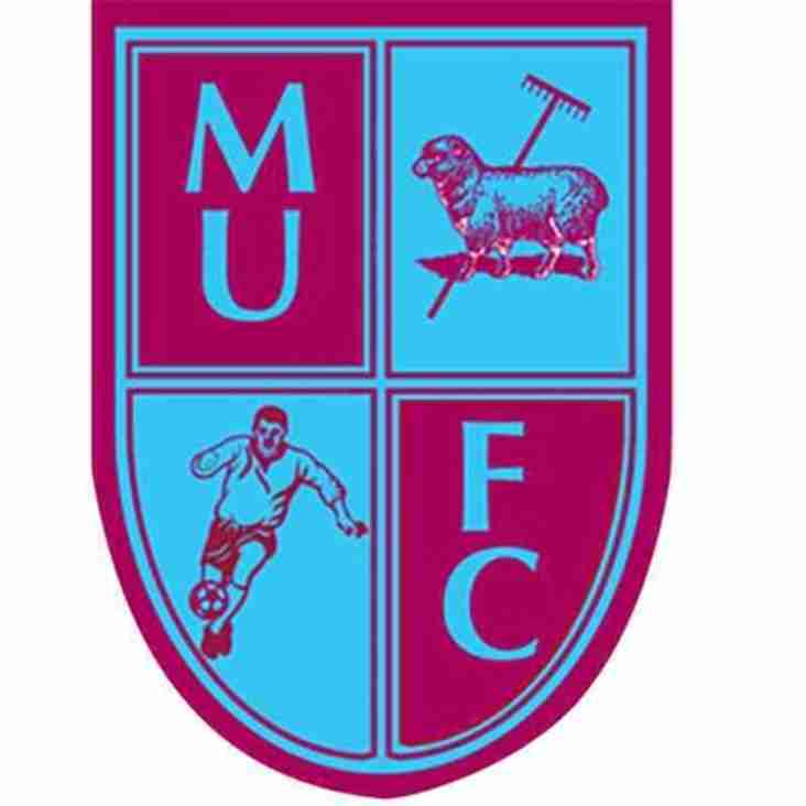 1st team at home to Milton United - Saturday 8th September 2018