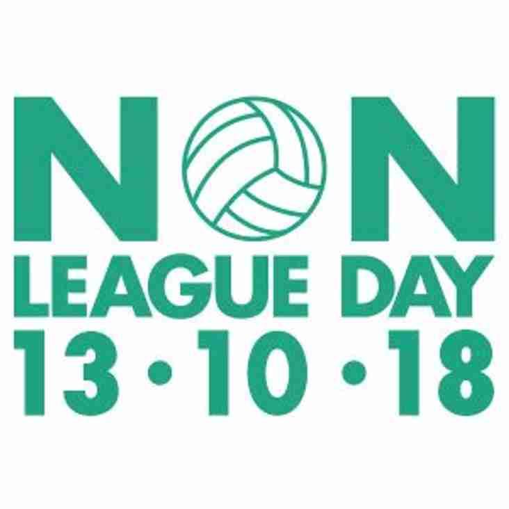 Non League Football Day - Saturday 13th October 2018