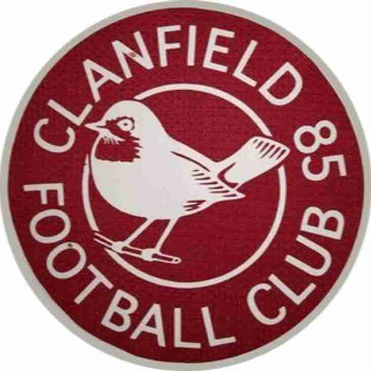 1st team away to Clanfield (85) - Saturday 20th October 2018