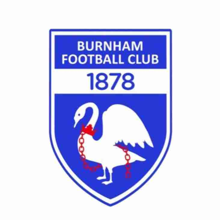 1st team home to Burnham - Saturday 19th January 2019