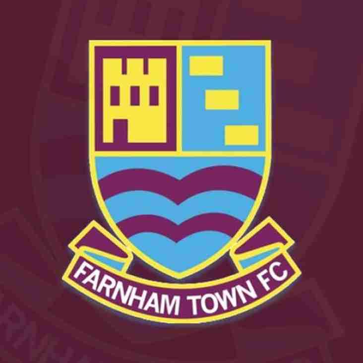 1st team away to Farnham Town - Tuesday 11th December 2018