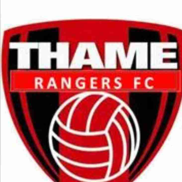1st team home to Thame Rangers - Saturday 23rd March 2019