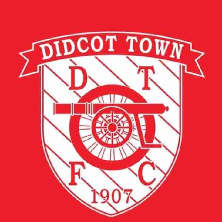 1st team away to Didcot Town Development - Saturday 2nd February