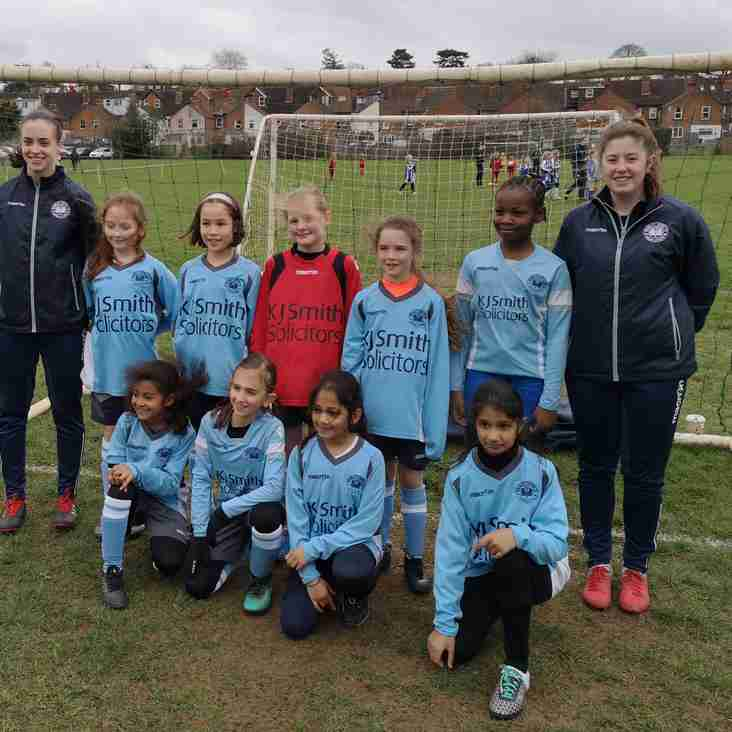 Girls team football returned to United and was a success