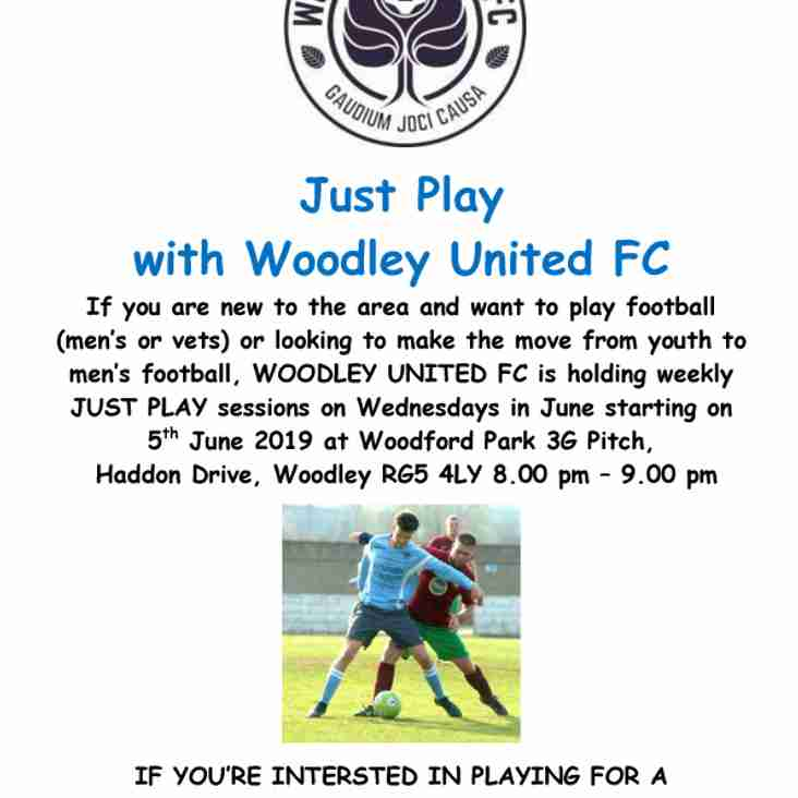 Just Play with Woodley United FC in June