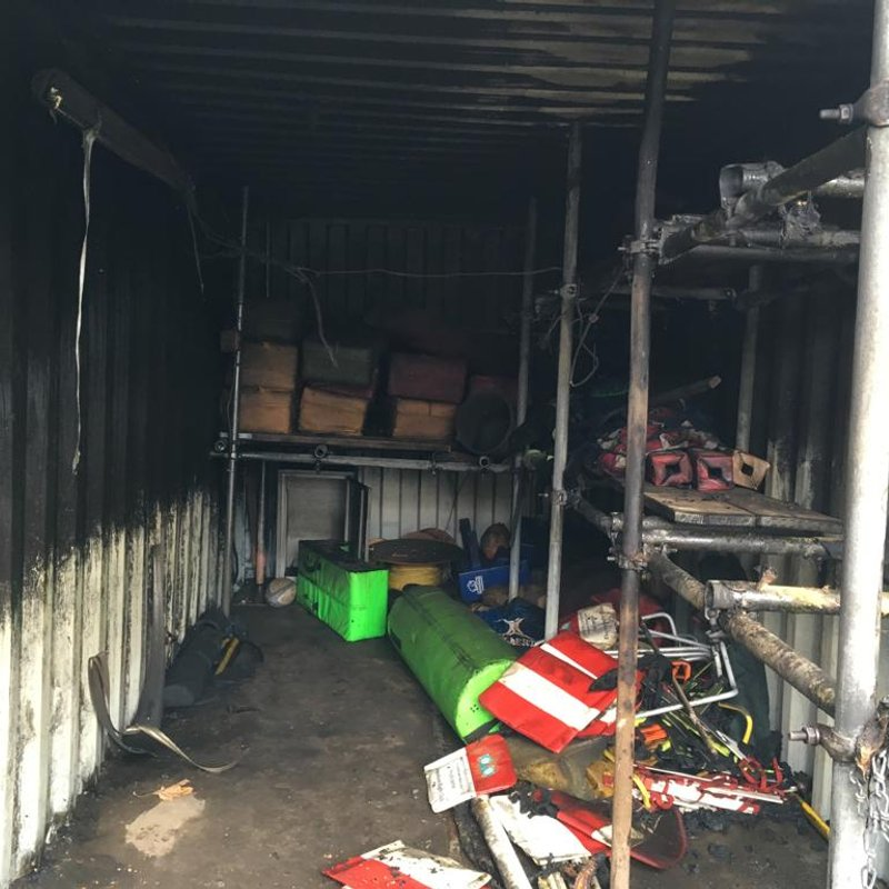 Storage Container Vandalised