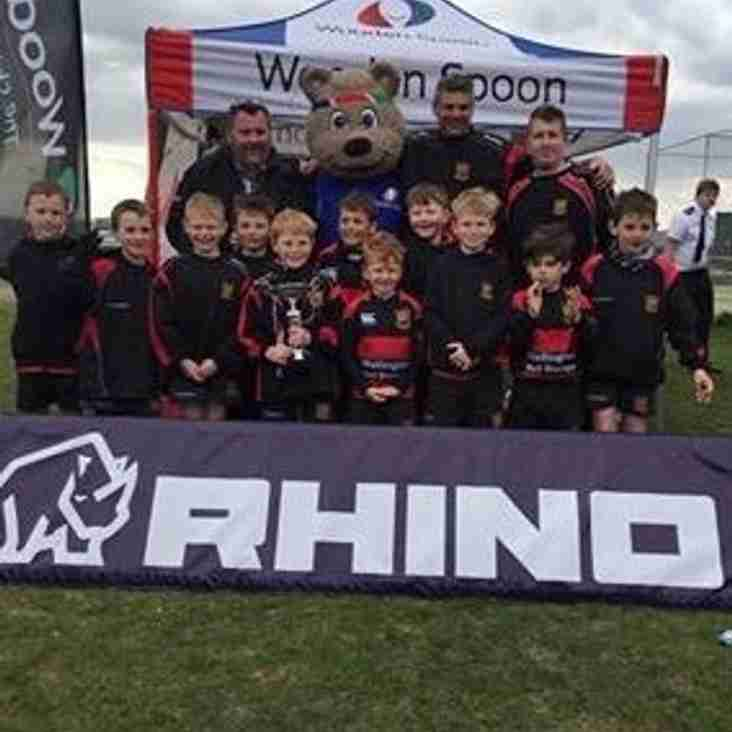 Under 8's undefeated at Cheddar festival
