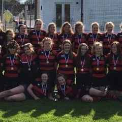 Under 18 ladies do themselves and the club proud.