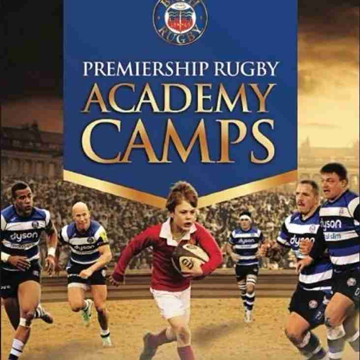 Bath Rugby will be running camps at Wellington RFC this summer!