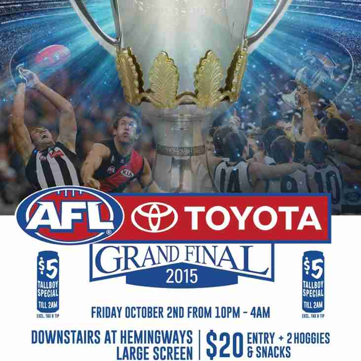 AFL Grand Final @ Hemingway's
