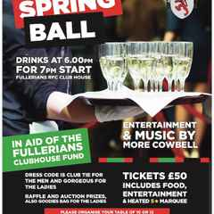 Fullers Spring Ball Book Now - Nearly Sold out