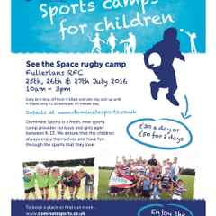 Space Rugby Camp this summer