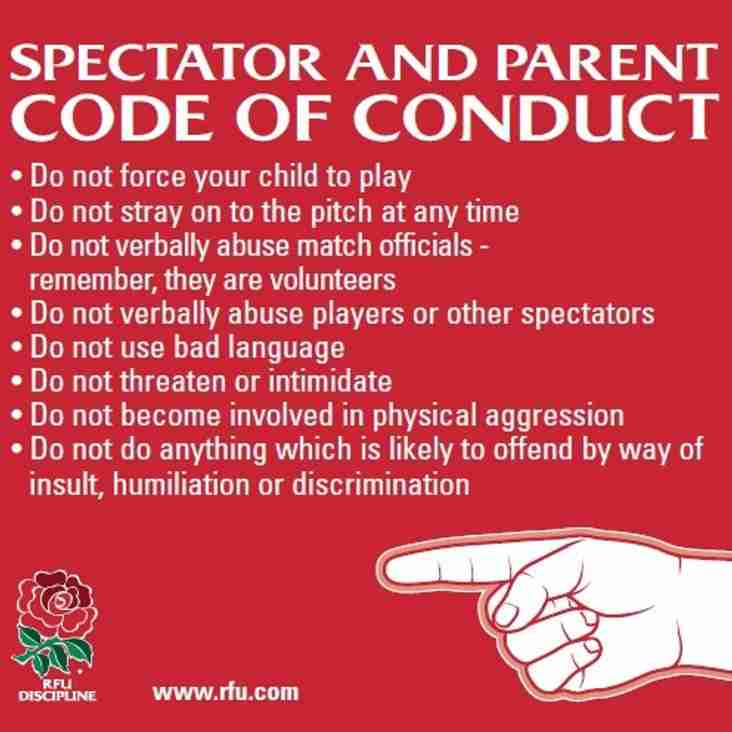 Spectator Code of Conduct - No Thanks
