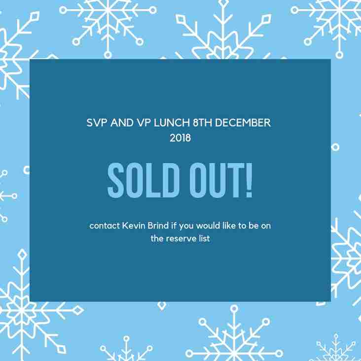 Update - SVP and VP Lunch 8th December 2018
